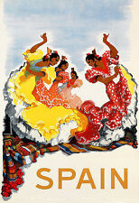 Art Ad Spain Travel Deco  Poster Print