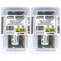 4GB KIT 2 x 2GB Toshiba Satellite A200-ST2 A200-ST2041 A200-ST2043 Ram Memory