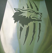 W4 Wolf Scratch Airbrush Stencil Mask Template Textile Paint Craft A5 Dusting