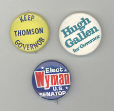 NEW HAMPSHIRE Political Button Lot PINBACK Pin BADGE Wyman GALLEN Thomson NH