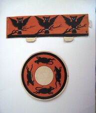 Vintage Halloween Nut Cup/Place Setting w/ Owls and Mice *