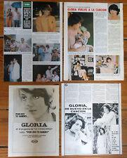 GLORIA TOMAS CANALS coleccion prensa 1970s fotos clippings cantante española