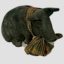 PIGGY BANK - Black Pig Heavy Cast Iron  Piggy Bank PN