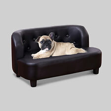 Pet sofa chaise chat chien chaton protecteur meubles soft pu divan lit places noir