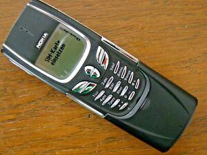 NOKIA 8850 Titan Handy Black Slider Vintage Tech Mobile Phone RARE