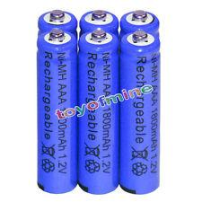 6x AAA battery batteries Bulk Nickel Hydride Rechargeable NI-MH 1800mAh 1.2V Blu