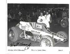 Autographed Walt Kennedy Sprint Car Auto Racing Photograph