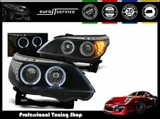 NEUF FEUX AVANT PHARES LPBM94 BMW E60 E61 2003-2005 2006 2007 ANGEL EYES LED
