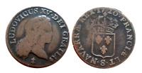 1720 French Colonial copper Demi-Sol, John Law Mississippi Bubble period