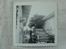 Vintage Car Photo Man Washing Giant 1953 Chrysler New Yorker 819