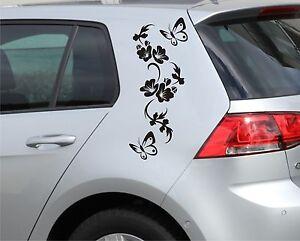 2 x Autoaufkleber Ranke(55cm) + 4 x Schmetterling Auto Aufkleber tuning tattoo