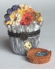 Boyds Bear Floras Blooming Bunch Treasure Box Trinket w Mini Basket Mothers Day