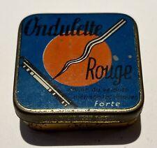 Ondulette Rouge : Boîte d'aiguilles de gramophone