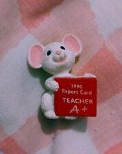 Hallmark Merry Miniatures 1990 Teacher A+ Mouse Report Card Miniature Gift