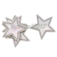 5pcs Holographic Star Iron On Patch Embroidered Applique Patch Clothes Stickers