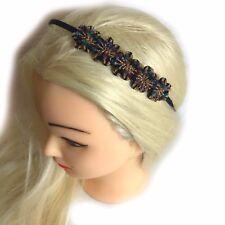 Multicolour beaded Crystal Hair Headband Band Alice