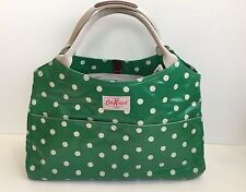 Cath Kidston Green Cream Spot Open Tote Bag New with Tags
