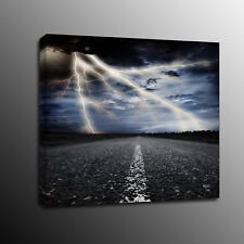 Canvas Prints Wall Art Painting Highways lightning Picture Home Decor-No Frame