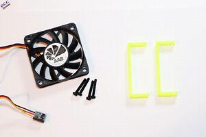 HP P420 SATA RAID SAS Card Cooler 60mm Cooling Fan, Mount Bracket Clip & Screws