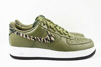 Nike Air Force 1 AOP Premium Mens Size 12 Shoes AQ4131 200 Green Tiger Camo