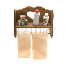 Dollhouse Nursery Mini Shelf Miniature Wooden Toys Wooden Dollhouse Furniture