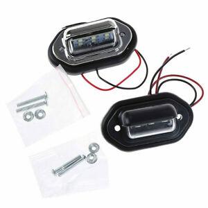 12V-24V Waterproof 6 LED Car License Plate Light Signal Tail Light Lamp Boat