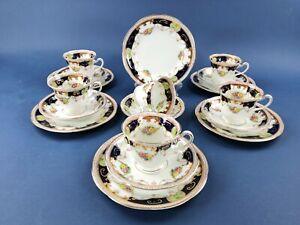 6 Heathcote China 'Warwick' Trios / Tea Set for 6 (DF242)