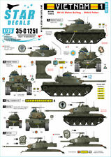 Star Decal  35-C1251 Vietnam 1. M41 Walker Bulldog and M48A3 Patton in Sou, 1/35