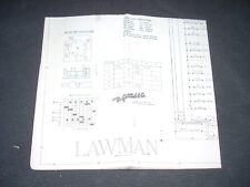 Gottlieb Lawman Pinball Schematic Original 1971 Vg+