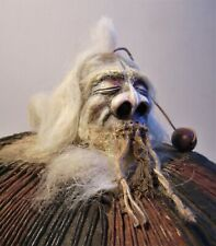 lim. Schädel Trophäe Kannibale Häuptling Schamane Schrumpfkopf Kopf Deko Unikat