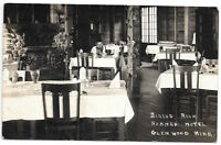 Real Photo Postcard Dining Room @ Summer Hotel in Glenwood, Minnesota~103918