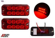 2x 24v 8 LED Lateral Marcador Rojo Luces PARA EL CARRO MAN DAF Scania Iveco