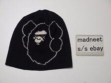 KAWS x A BATHING APE BIG FACE BEANIE BLACK bape baby milo hat cap 1253