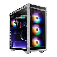 XPG BATTLECRUISER ATX Mid-Tower RGB Tempered Glass Tool-Less Design Black/White