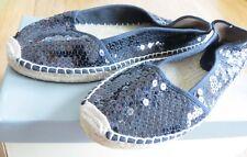 NO BOUNDARIES 9.5 M Black Canvas Sequins Slip-On Ballet Flats Unstructured Shoes