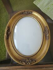 Vintage Wooden Gold Frame 8 1/2 by 6 1/2 For 5 by 7 Picture, Convex Glass