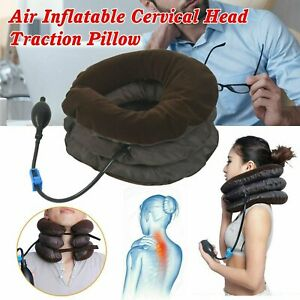 Cervical Neck Traction Device Collar Brace Support  Air Inflatable Pillow