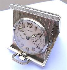 Très rare montre de voyage art deco 100% argent massif silver