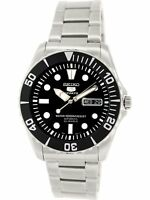 Seiko Men's 5 Automatic SNZF17K Silver Stainless-Steel Plated Self Wind Fashi...