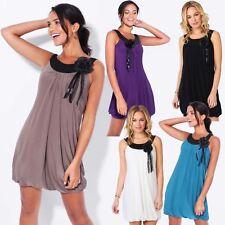 KRISP Womens Retro Vintage Sleeveless Tunic Dress Pleated Ladies Party Long Top