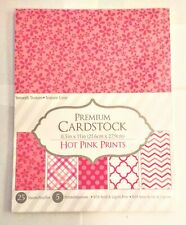 Core'Dinations Premium Cardstock 8½X11in. 25 Sheets, 5 Designs, Hot Pink Prints