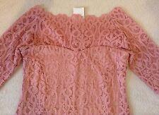 Bnwt *NEXT* Blush/Pink  Vintage Lace Bodycon Dress (size Uk 12 Tall)