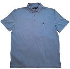 8f9294e0382b Mens Nautica Wicking Polo Shirt Performance Collar Spinner Blue 2xl XXL