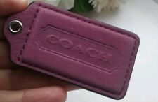 """COACH Hang Tag Lozenge Key LARGE Berry ORCHID Hand Bag Charm 3"""""""
