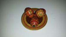 Vintage Wooden Hand Crafted Ukrainian Easter Eggs & Plate Gift Set