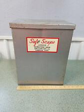 Vintage Safe-Scape Emergency Esape Ladder Metal Box ( no ladder )