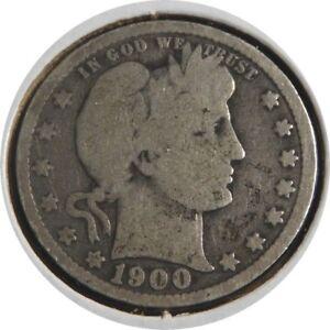 elf Barber Quarter Dollar 1900 Szego Collection