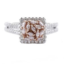 Real 0.90ct Natural Fancy Pink Diamonds Engagement Ring 18K Solid Gold Band