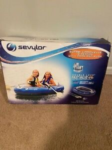 Sevylor Super Caravelle 2 Person Inflatable Boat with Oars & Pump 2000003401
