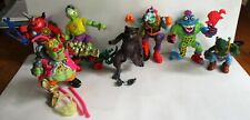 LOT OF 7, PLAYMATE TOYS TEENAGE MUTANT NINJA TURTLE MUTATE ACTION FIGURES (0387)